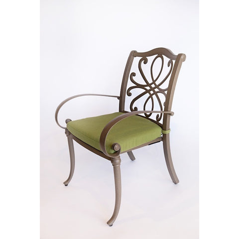 Holland Dining Arm Chair with Optional Cushion