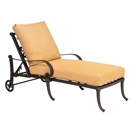 Holland Adjustable Chaise Lounge, Outdoor Furniture, Woodard - Danny Vegh's