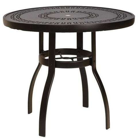 "Deluxe 42"" Round Dining Table with Trellis Top"
