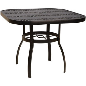 "Deluxe 30"" Square Dining Table with Trellis Top, Outdoor Furniture, Woodard - Danny Vegh's"