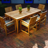 "Amalfi 73"" x 38"" Rect. Dining Table, Outdoor Furniture, Kingsley Bate - Danny Vegh's"