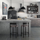 Zoe Non Swivel Stool with Cushion Seat, Kitchen and Bar Stool, Amisco - Danny Vegh's