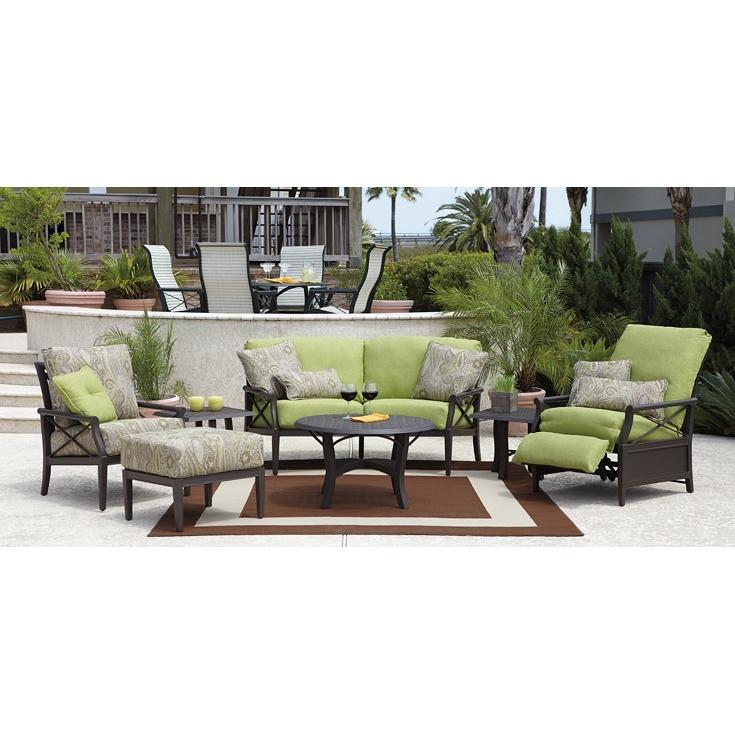 Andover Cushion Recliner, Outdoor Furniture, Woodard - Danny Vegh's