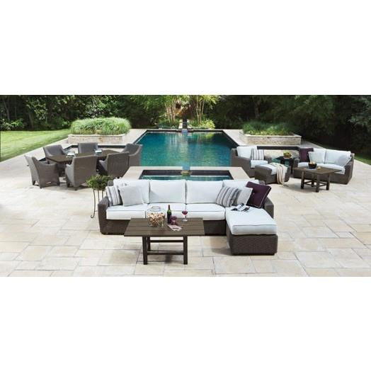 Augusta Right Arm Facing Love Seat Sectional, Outdoor Furniture, Woodard - Danny Vegh's