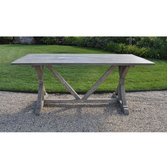 "Brussels 96"" Rect. Farmhouse Table, Outdoor Furniture, Kingsley Bate - Danny Vegh's"