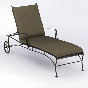 Bradford Adjustable Chaise Lounge with Optional Cushion, Outdoor Furniture, Woodard - Danny Vegh's