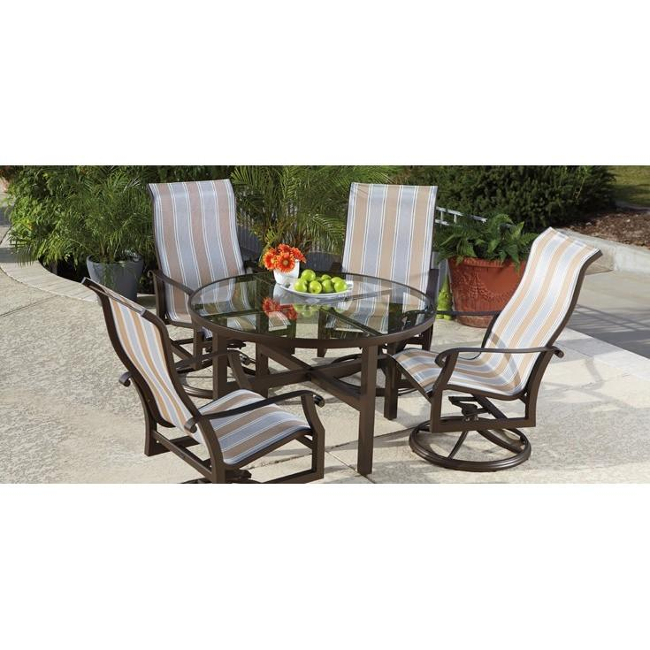 Cortland Padded Sling Dining Arm Chair, Outdoor Furniture, Woodard - Danny Vegh's