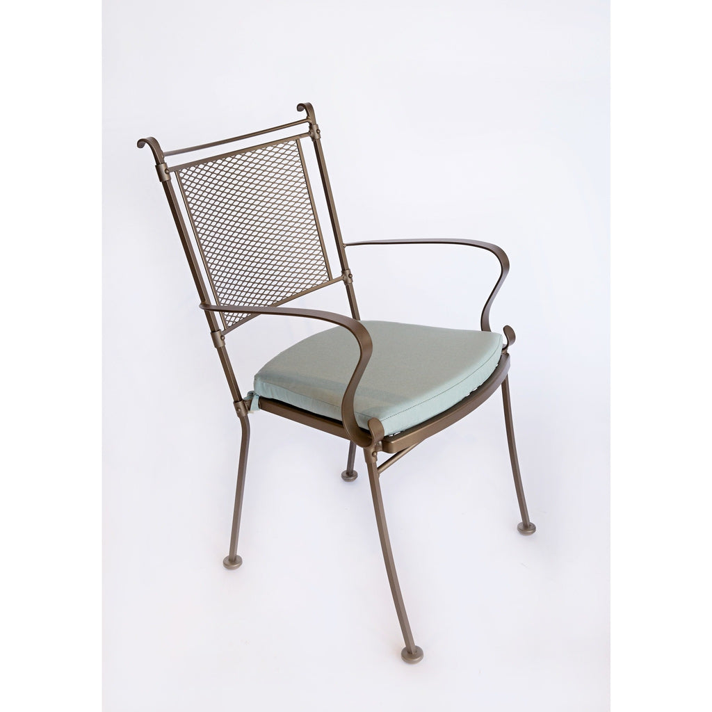 Bradford Dining Arm Chair with Optional Cushion, Outdoor Furniture, Woodard - Danny Vegh's