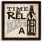 Beer - Time to Relax 13 x 13, Home Decor, Z Art - Danny Vegh's