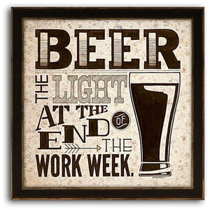 Beer - Work Week 13 x 13, Home Decor, Z Art - Danny Vegh's