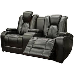 Galaxy Power Leather Loveseat w/ LED Console, Theater Seats, Danny Vegh's - Danny Vegh's