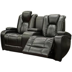 Galaxy Power Leather Loveseat w/ LED Console - Danny Vegh's