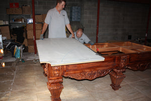 Installation of Pool Table - New, Used or Antique, Service, Danny Vegh's - Danny Vegh's
