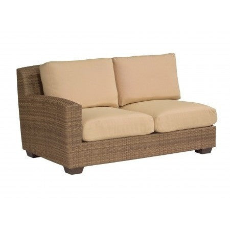 Saddleback Left Arm Facing Love Seat Sectional Unit, Outdoor Furniture, Woodard - Danny Vegh's