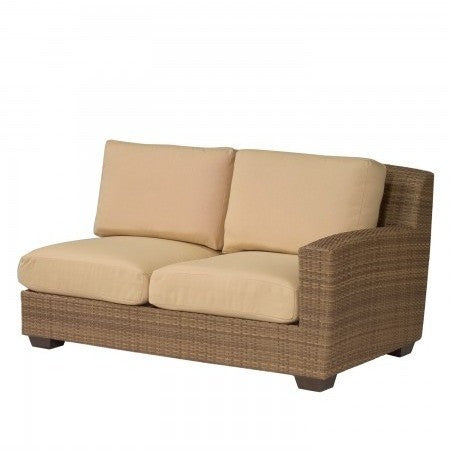 Saddleback Right Arm Facing Love Seat Sectional Unit, Outdoor Furniture, Woodard - Danny Vegh's