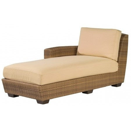 Saddleback Left Arm Facing Chaise Lounge Sectional Unit, Outdoor Furniture, Woodard - Danny Vegh's