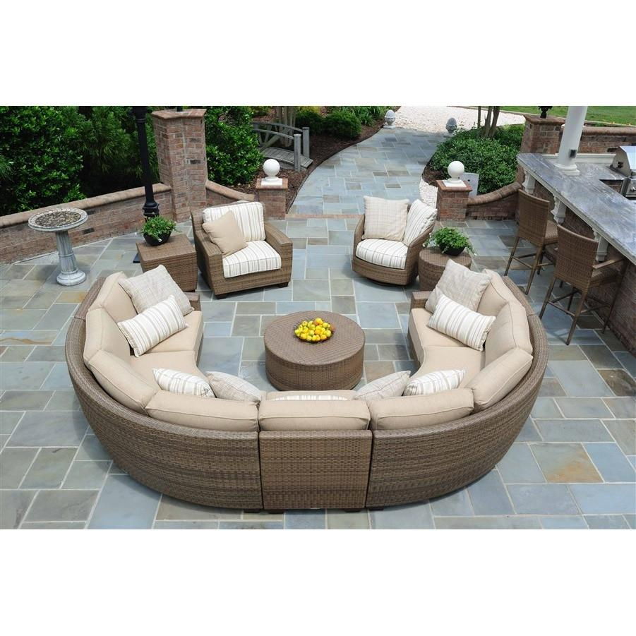 Saddleback Round Coffee Table, Outdoor Furniture, Woodard - Danny Vegh's