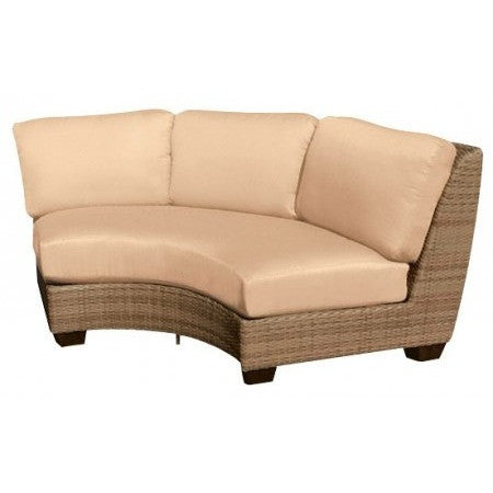 Saddleback Curved Sectional Unit, Outdoor Furniture, Woodard - Danny Vegh's