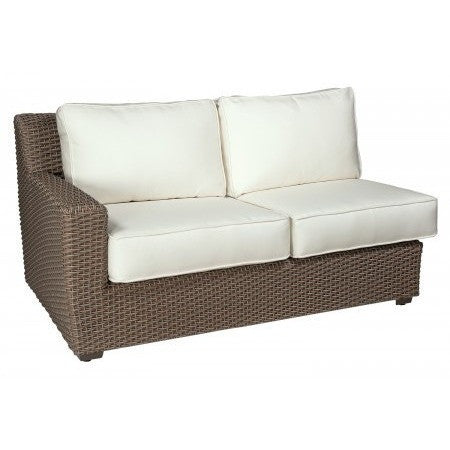 Augusta Left Arm Facing Love Seat Sectional, Outdoor Furniture, Woodard - Danny Vegh's