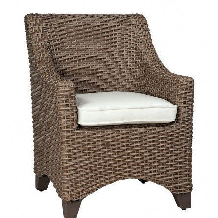 Augusta Dining Arm Chair, Outdoor Furniture, Woodard - Danny Vegh's