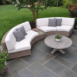 Sag Harbor Sectional - Curved Armless Settee, Outdoor Furniture, Kingsley Bate - Danny Vegh's
