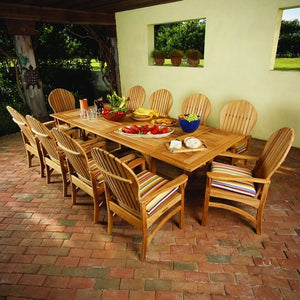"Essex 106"" x 45"" Rect. Extension Dining Table w/Fold-Away Leaves, Outdoor Furniture, Kingsley Bate - Danny Vegh's"