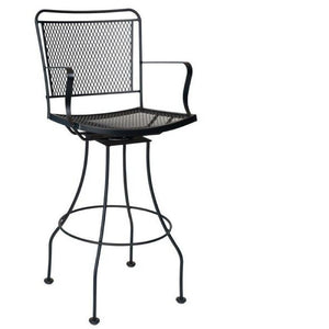 Constantine Swivel Bar Stool, Outdoor Furniture, Woodard - Danny Vegh's