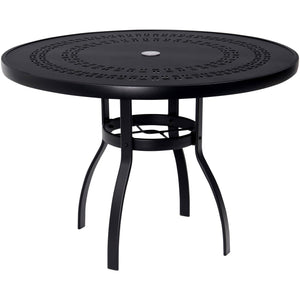 "Deluxe 36"" Round Dining Table with Trellis Top, Outdoor Furniture, Woodard - Danny Vegh's"