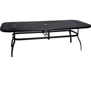"Deluxe 44"" x 90"" Rectangular Dining Table with Trellis Top, Outdoor Furniture, Woodard - Danny Vegh's"