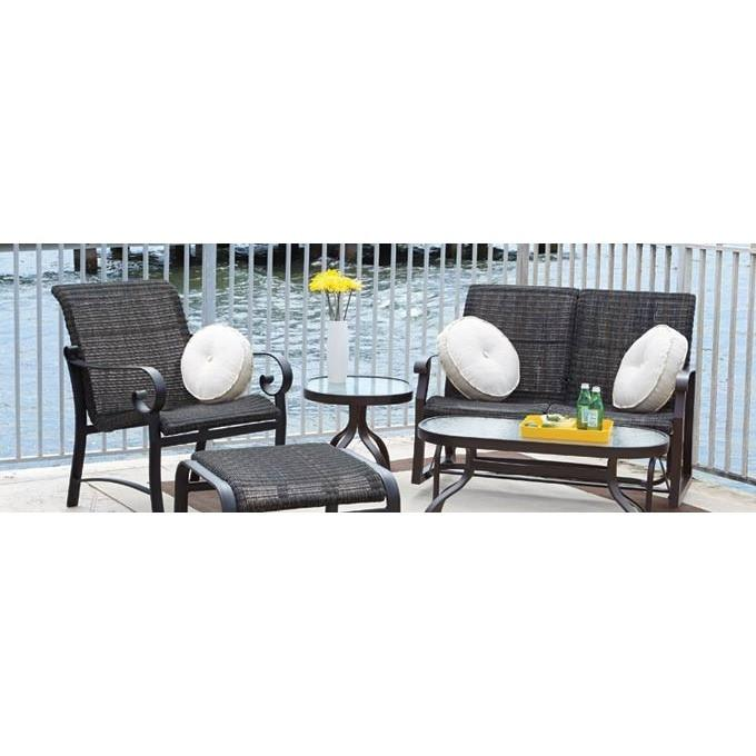 Belden Woven Ottoman, Outdoor Furniture, Woodard - Danny Vegh's