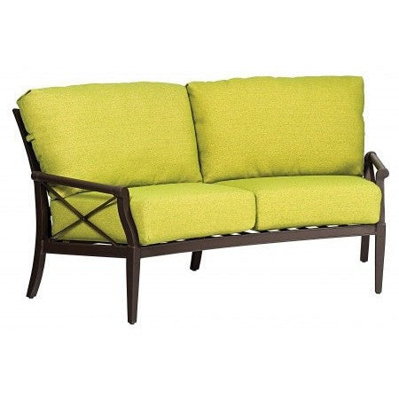 Andover Cushion Crescent Loveseat