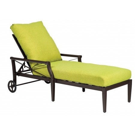 Andover Cushion Adjustable Chaise Lounge, Outdoor Furniture, Woodard - Danny Vegh's