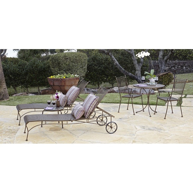 Bradford Bench with Optional Cushion- Stackable, Outdoor Furniture, Woodard - Danny Vegh's