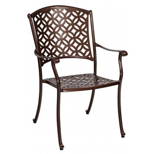 Casa Dining Arm Chair with Optional Seat Cushions, Outdoor Furniture, Woodard - Danny Vegh's