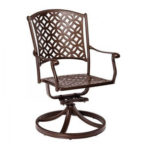 Casa Swivel Dining Arm Chair, Outdoor Furniture, Woodard - Danny Vegh's