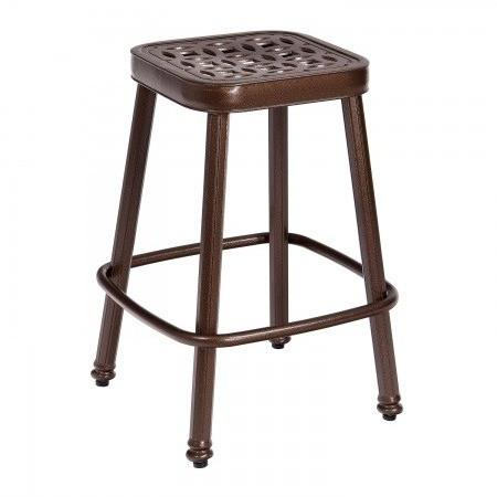 Casa Stationary Counter Stool with Optional Seat Cushion, Outdoor Furniture, Woodard - Danny Vegh's