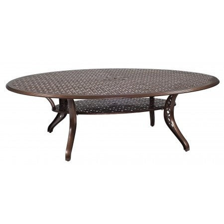 Casa 70 x 98 Oval Umbrella Table, Outdoor Furniture, Woodard - Danny Vegh's