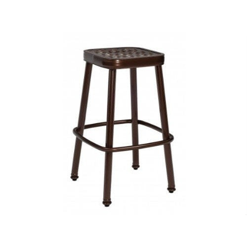 Casa Stationary Bar Stool with Optional Seat Cushion, Outdoor Furniture, Woodard - Danny Vegh's