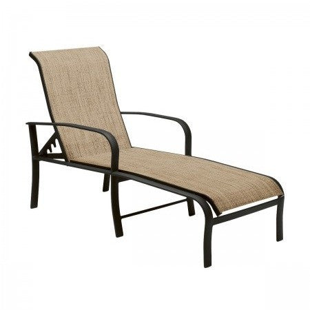 Fremont Sling Adjustable Chaise Lounge, Outdoor Furniture, Woodard - Danny Vegh's