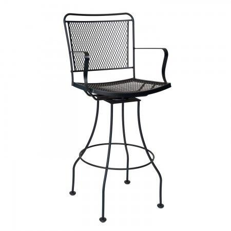 Constantine Swivel Bar Stool with Optional Cushion, Outdoor Furniture, Woodard - Danny Vegh's