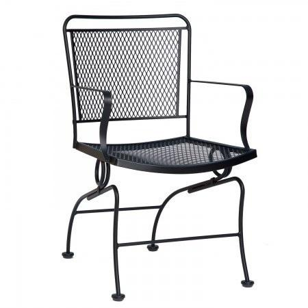Constantine Coil Spring Dining Chair with Optional Cushion, Outdoor Furniture, Woodard - Danny Vegh's