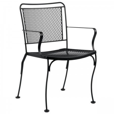 Constantine Dining Arm Chair - Stackable, Outdoor Furniture, Woodard - Danny Vegh's