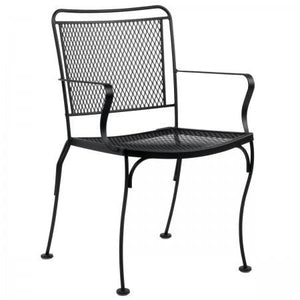 Constantine Dining Arm Chair with Optional Cushion, Outdoor Furniture, Woodard - Danny Vegh's
