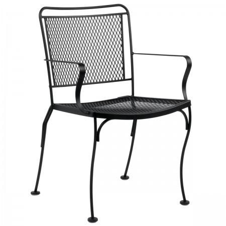 Constantine Dining Arm Chair with Optional Cushion - Stackable, Outdoor Furniture, Woodard - Danny Vegh's