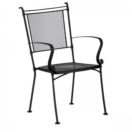 Bradford Dining Arm Chair - Stackable, Outdoor Furniture, Woodard - Danny Vegh's