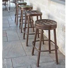 Casa Round Swivel Bar Stool, Outdoor Furniture, Woodard - Danny Vegh's