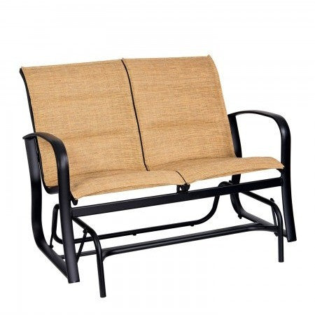 Fremont Padded Sling Love Seat Glider, Outdoor Furniture, Woodard - Danny Vegh's