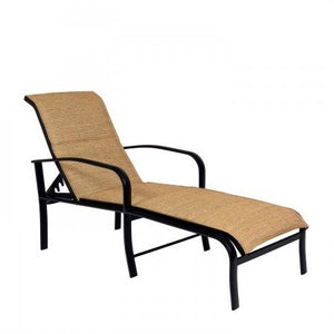 Fremont Padded Sling Adjustable Chaise Lounge, Outdoor Furniture, Woodard - Danny Vegh's