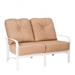 Fremont Cushion Love Seat, Outdoor Furniture, Woodard - Danny Vegh's