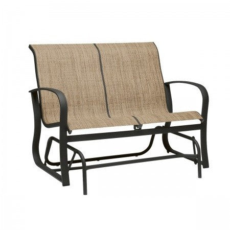 Fremont Sling Love Seat Glider, Outdoor Furniture, Woodard - Danny Vegh's